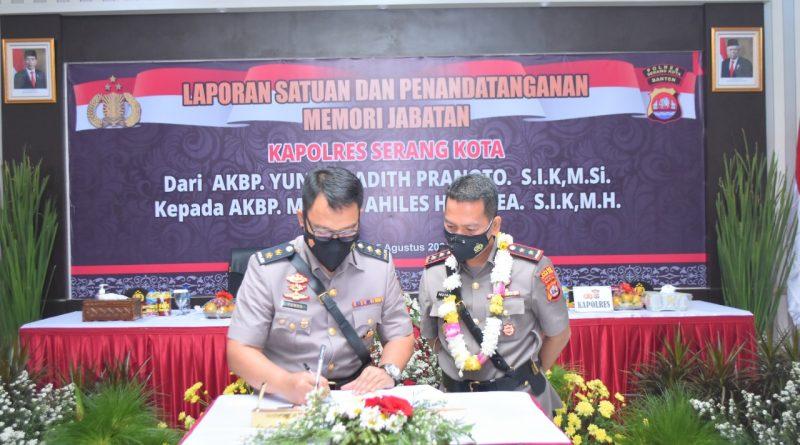 Kapolres Serang Kota, Kini Dijabat AKBP Maruli Achilles Hutapea, S.IK., MH