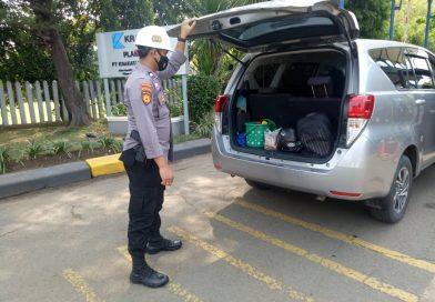 Ditpamobvit Polda Banten Lakukan Pengamanan dan Imbauan Prokes di PT. KRAKATAU DAYA LISTRIK KOTA CILEGON