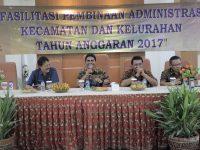 Arahan Sachrudin pada Pembinaan Administrasi Kelurahan dan Kecamatan