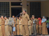 Sekda Kota Tangerang, Pertama Kali Pimpin Apel Pagi