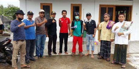 Cegah Wabah Corona, Semprot Disinfektan Warga Sepang Elok Sambut Antusias