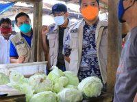 Camat Periuk Dampingi Walikota Tinjau Rapid Test Di Pasar Jatibaru