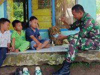 Pasca penutupan TMMD, Anak-Anak Rindu Bermain Bersama Anggota TNI