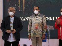 KANWIL BANTEN Raih Penghargaan  Terbaik KE – 3 Kategori  Aanggaran Sedang  Dalam Penyelemggaraan Bantuan Hukum Tahun 2020