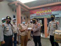 Pertahankan Wilayah Zona Hijau, Wakapolres Serang Kota Kunjungi Posko PPKM