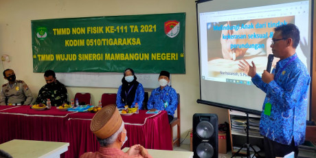 TMMD ke – 111 Kodim 0510/ Trs Non Fisik, Sosialisasi Aplikasi Sisabar