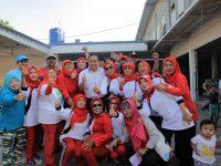 Peringati HUT Kemerdekaan RI ke 72, Warga Cipondoh dan Tangerang Gelar Gerak Jalan
