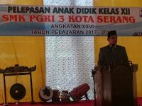 Pelepasan Anak Didik Kelas XII SMK PGRI 3 Kota Serang
