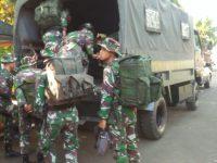 Pergeseran Pasukan Satgas TMMD Dari Makodim Kudus Menuju Lokasi Sasaran