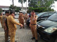 Usai Sertijab, Sekda Lakukan Pemeriksaan Kendaraan Dinas